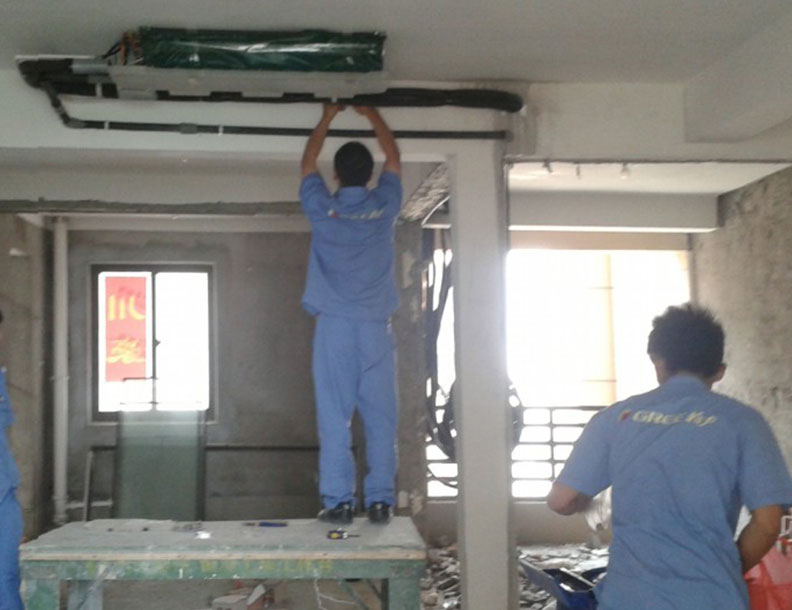 军区总医院中央空调安装工程,宏源暖通,您身边的安装专家!
